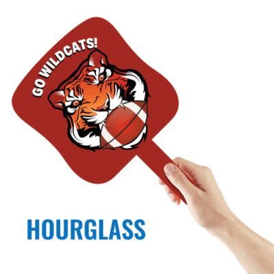 A Hourglass Paddle Sign